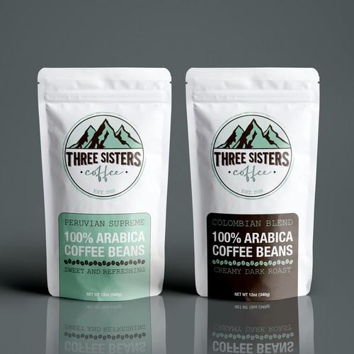 Three Sisters Coffee Packaging