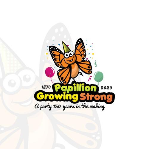 Butterfly Mascot Logo