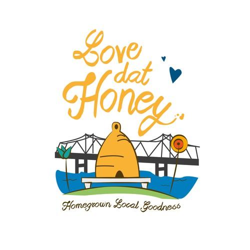 Logo for Homegrown Local Honey
