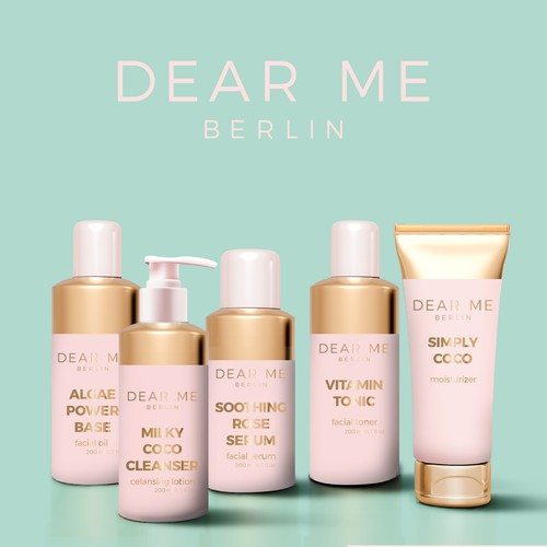 Beauty products line for Dear Me