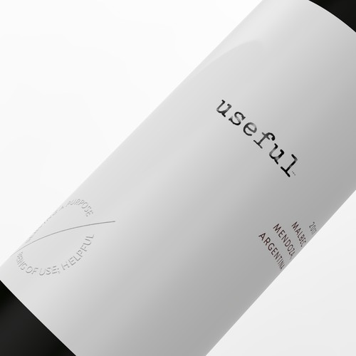 Minimalistic wine label