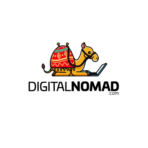Mascot Logo for Digital Nomad