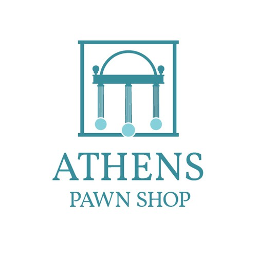 Bold logo for a Pawn Shop in Athens