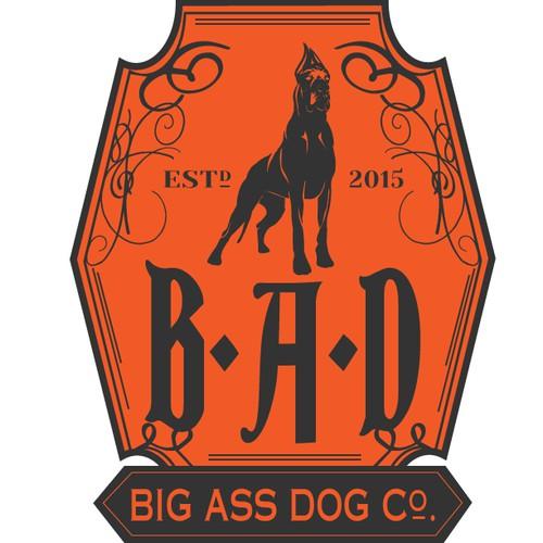Biker-inspired logo for dog bed co.