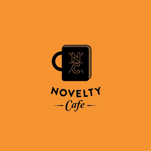 Create a simple yet effective logo for a book cafe