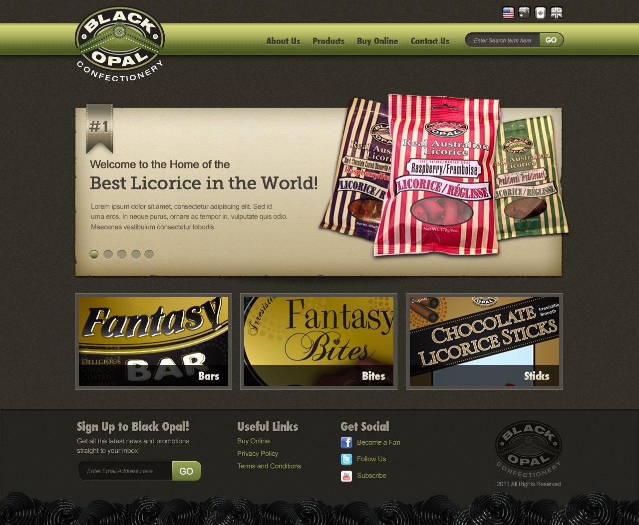 Black Opal Confectionery needs a new website design