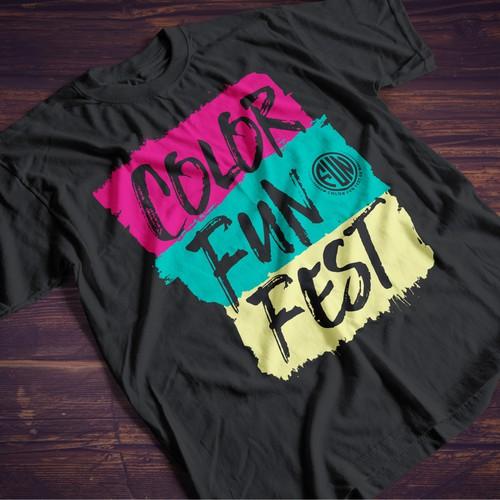 Colorful T-shirt for a Fun Run