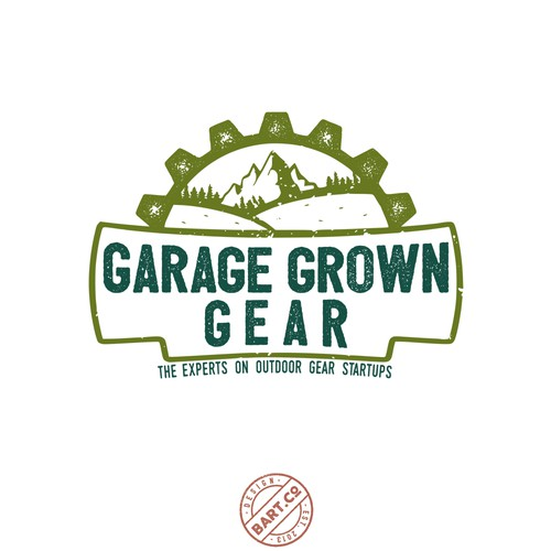 Grunge logo for Outside Gear online magazine