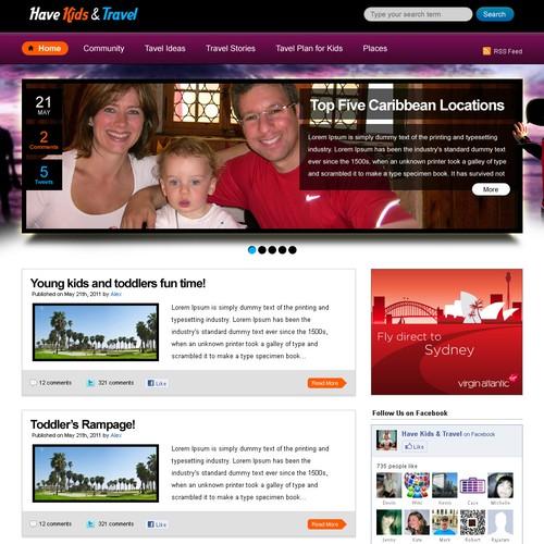 Wordpress travel blog - need to look like a website