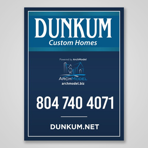 Dunkum Custom Homes Signage