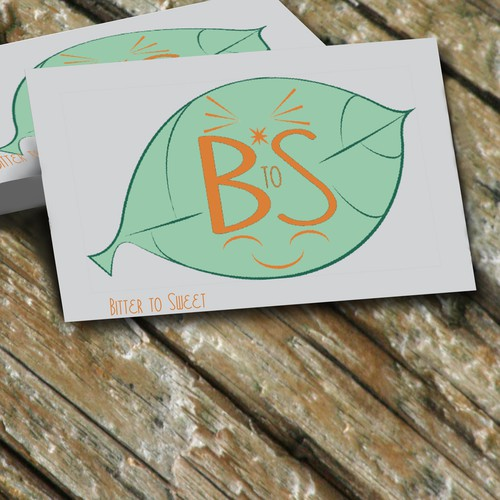 logo on business-card for a website