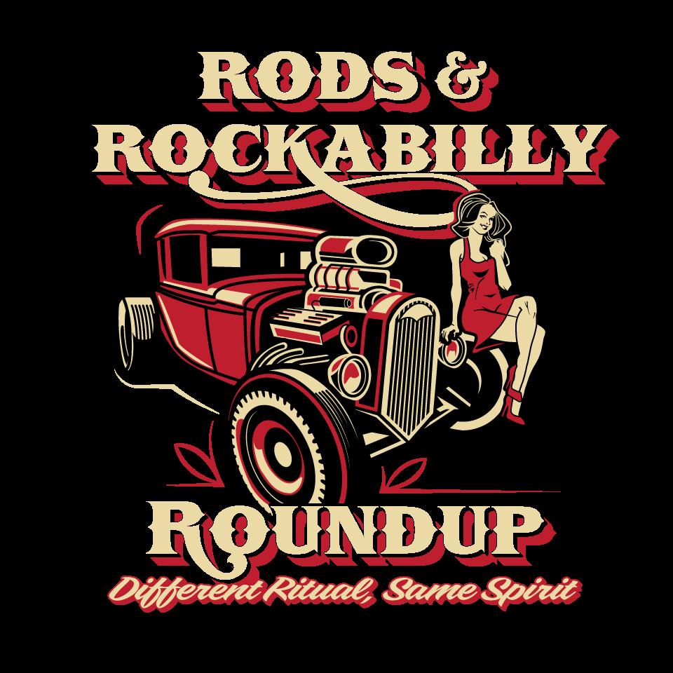 Bad ass hot rod and pin up girl car show needs logo