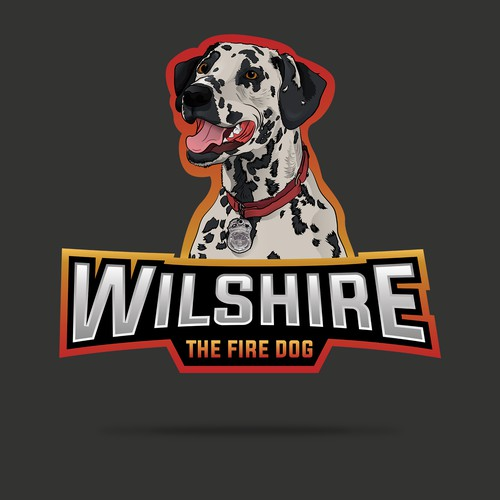 Create a fun and recognizable logo for Wilshire the Fire Dog
