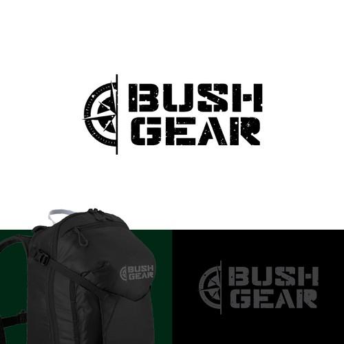 BUSH GEAR logo for adventure brand