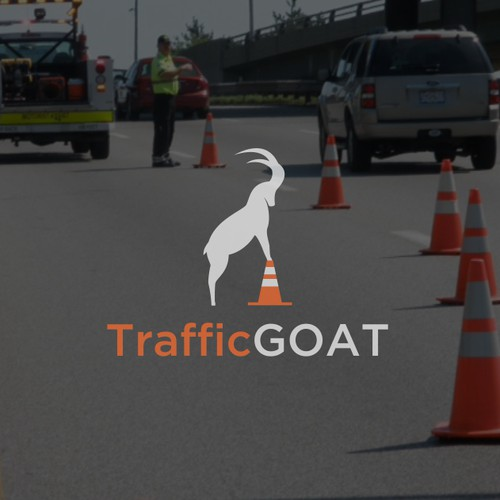 TrafficGOAT Logo for a traffic control company