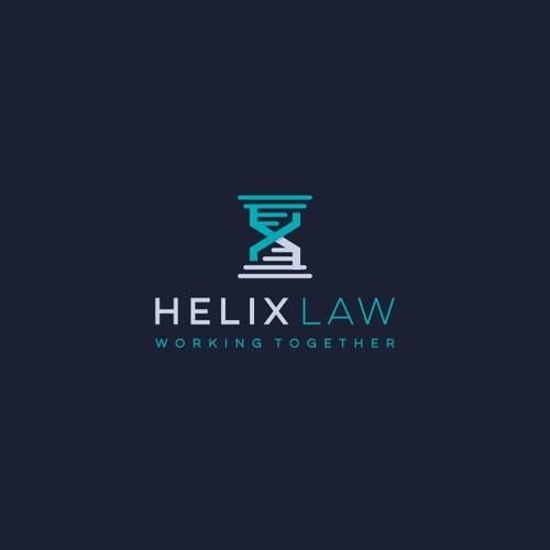 Letter H Helix Logo For Sale
