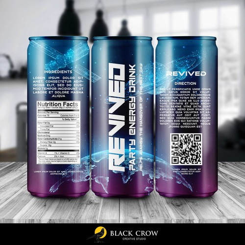Revived party energy drink