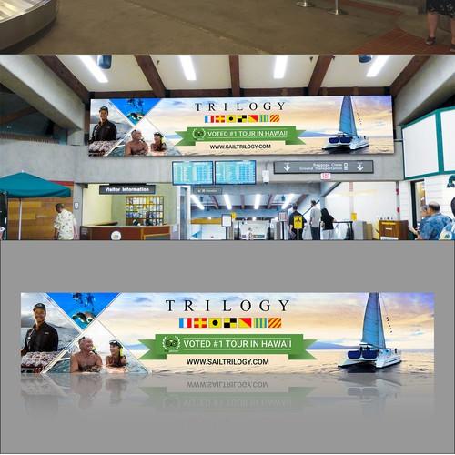 Create eye catching billboard/banner for luxury Hawaiian sailing company!