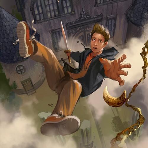 Adventure novel book cover