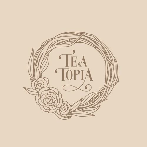 Logo for bohemian style Tea Salon