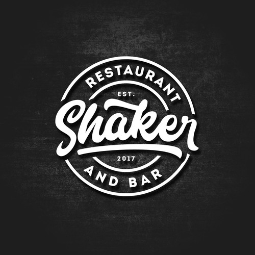 Logo design for Shaker Restaurant and Bar.