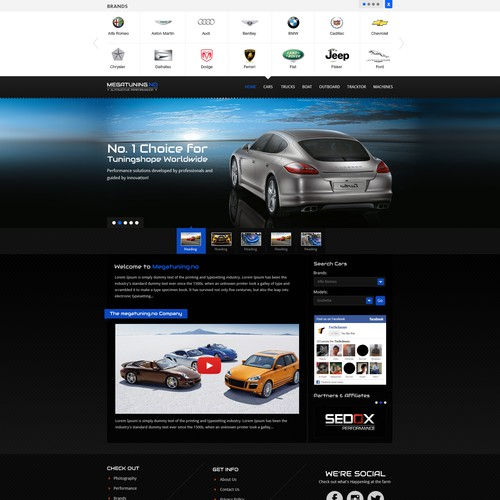 Chip tuning website for cars, boats, tractors and trucks
