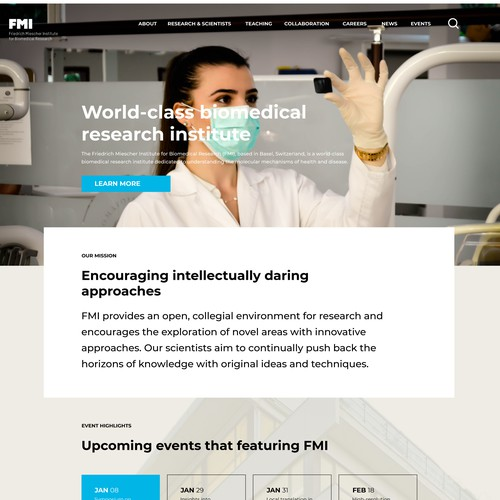 Web Concept for a Research Institute