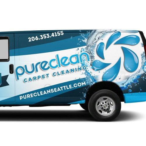 Design a attention grabbing, professional wrap design for an award winning carpet cleaning company!