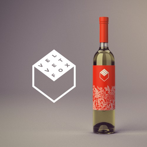 Wine logo and packaging.