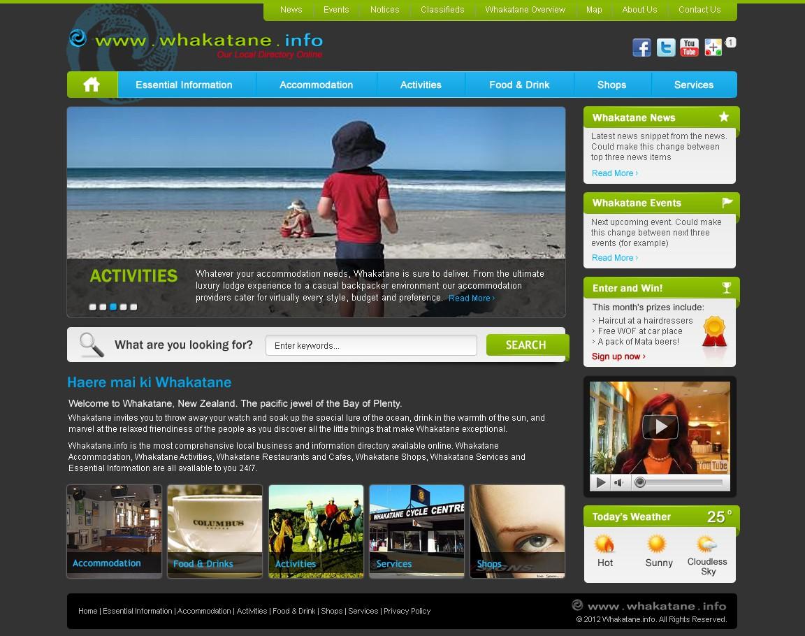 Whakatane.info Ltd needs new website graphics