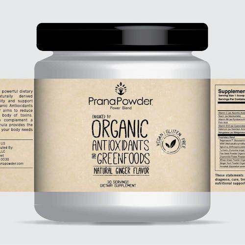Create a winning label for Prana Powder!