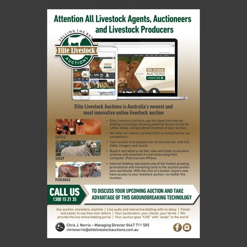 Elite Livestock - Email Marketing Flyer