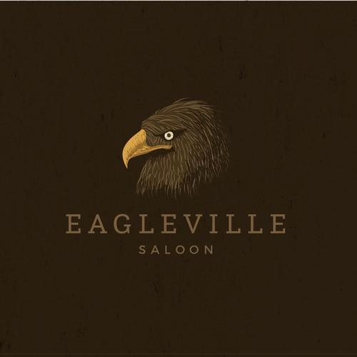 Logo design for Eagle Ville Sallon.