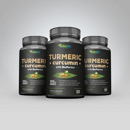 Professional label design for supplement