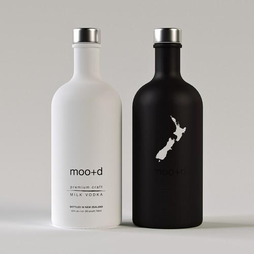 Moo+d Vodka Label Design
