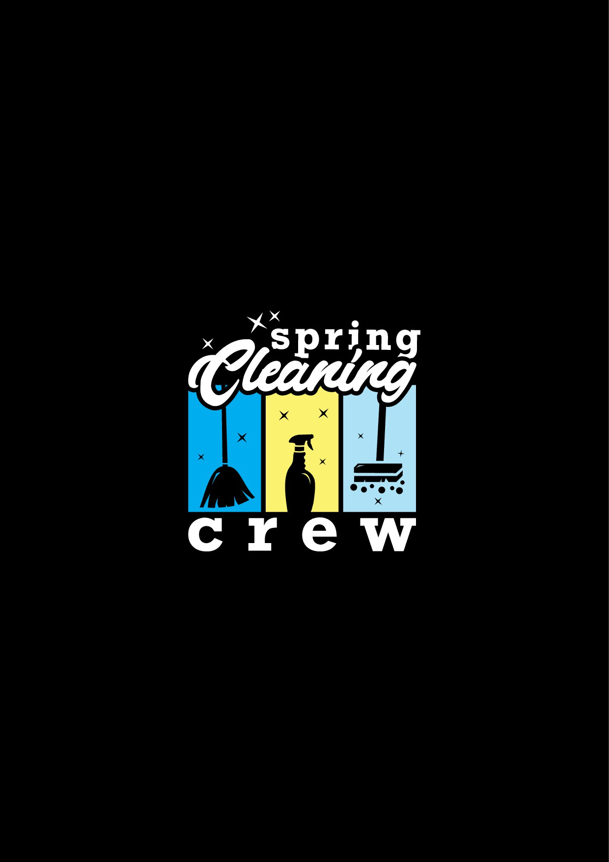 Spring Cleaning Crew T-Shirt Design