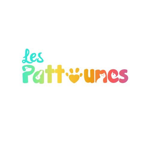 Les Pattounes - Pet Logo