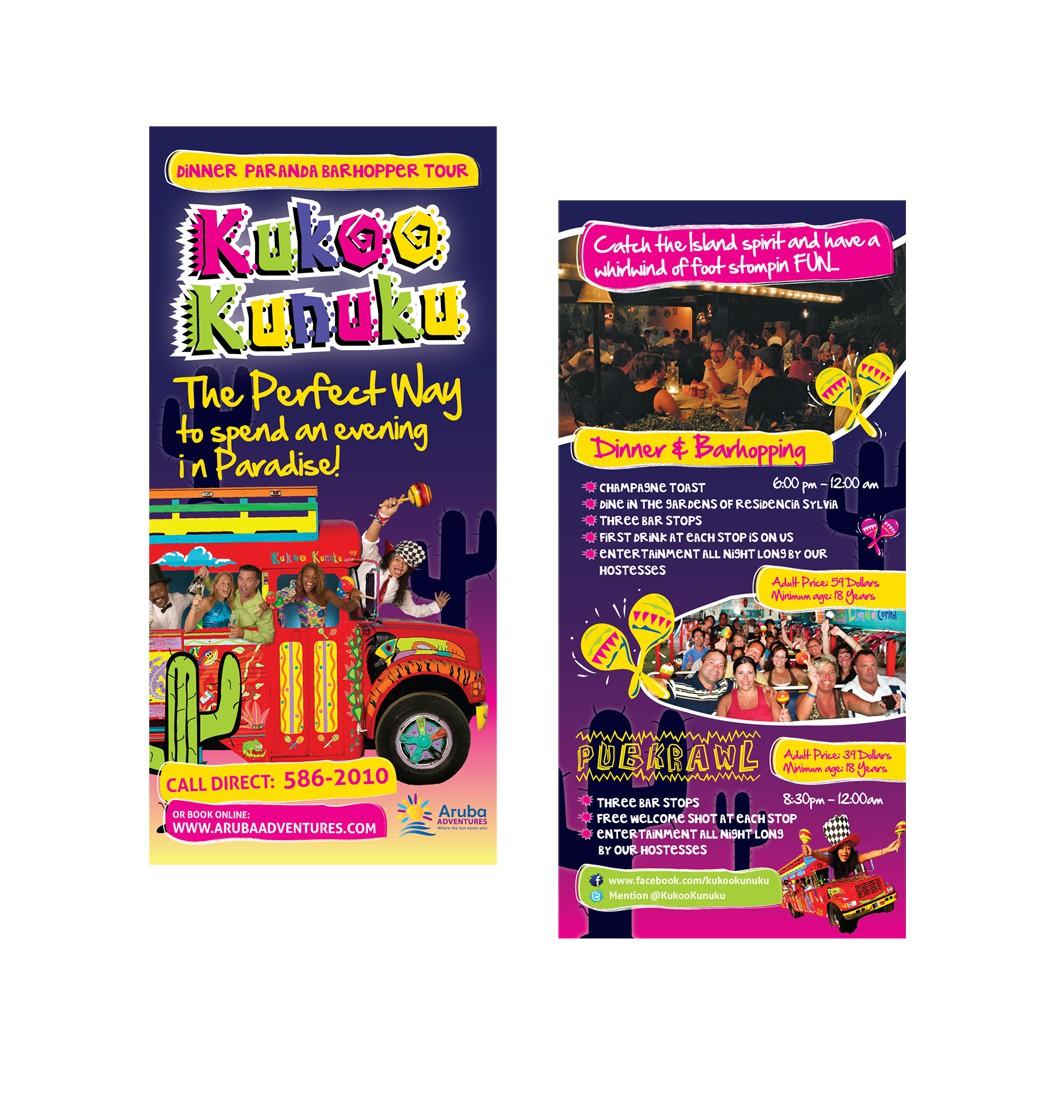 Kukoo Kunuku Paranda Bus Tours & Transfers ARUBA needs a new flyer design