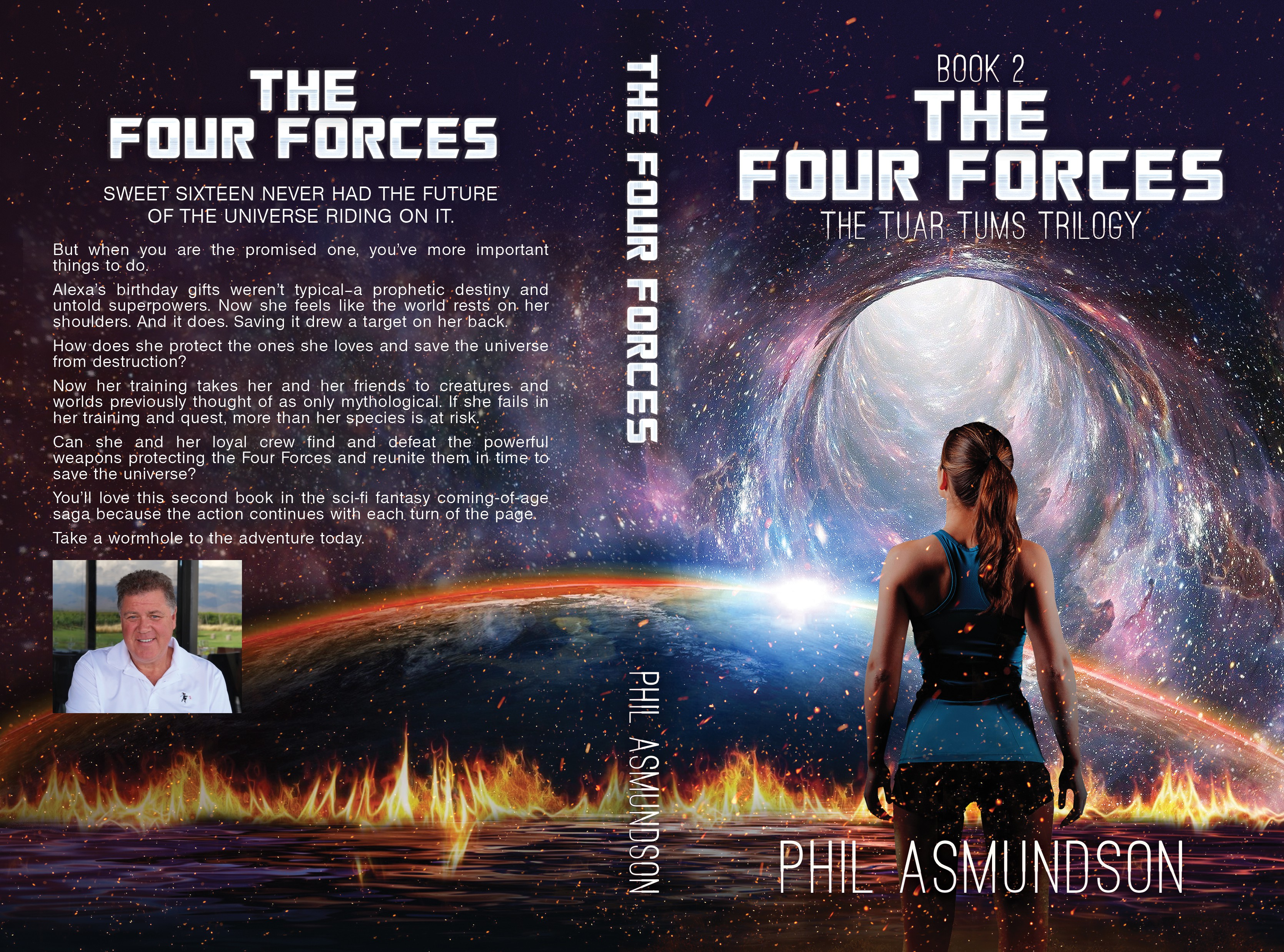 Book cover for second book in hard science fiction novel trilogy