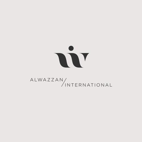 Elegant Wi letter monogram