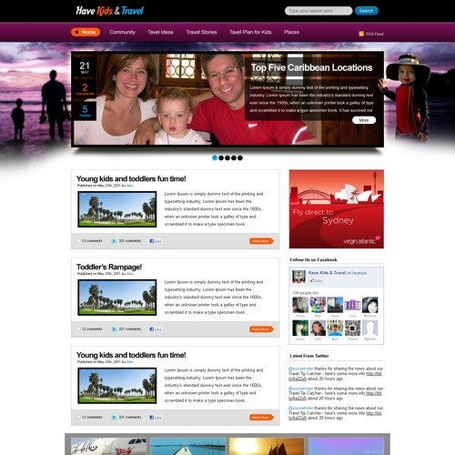 Wordpress travel blog - need to look like a website