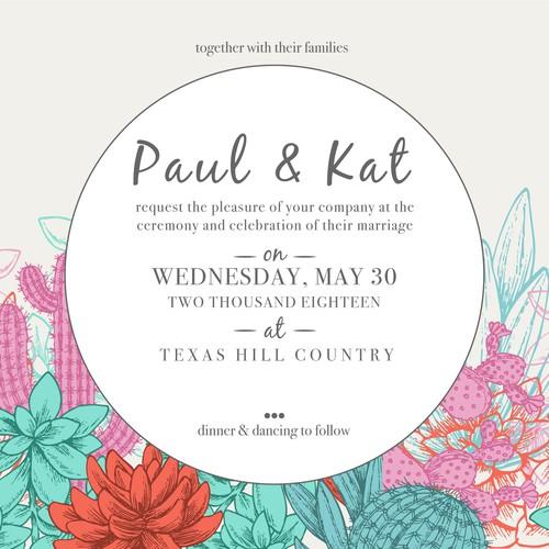 P&K Wedding Invitation