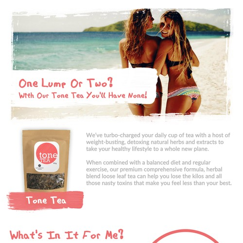 Design landing page to be used for 2 wellness products!