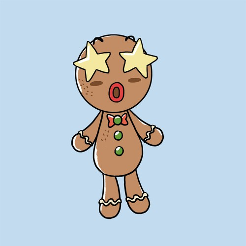 Gingerbread man character design
