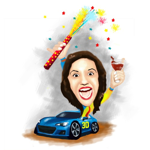 Make my wife laugh for her 30th birthday with a design!