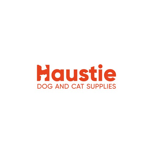 Haustie - logo for dog and cat supplies retailer