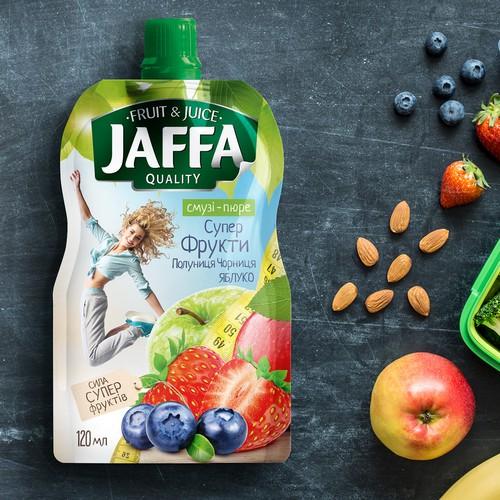 Fruit puree label design