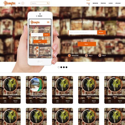 Website design for i-Magazine AG
