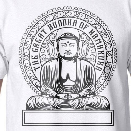 Buddha of Kamakura Themed T-shirt
