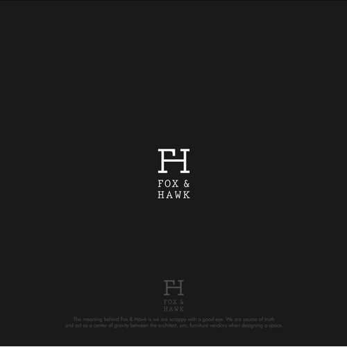 Create sleek branding for Fox & Hawk a workspace design firm!